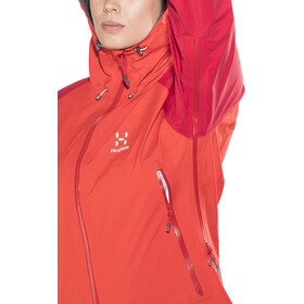 Haglöfs Roc Spirit Veste Femme, pop red/rich red